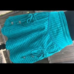 SALE!  Teal Corduroy Skirt by Marc Jacobs SZ 8